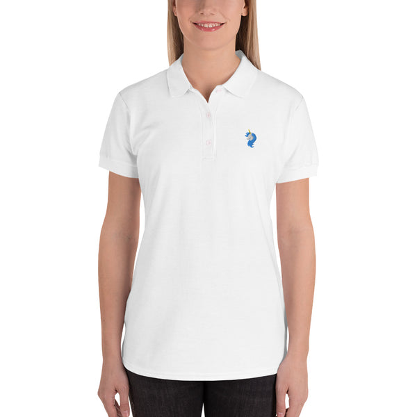 Logo Embroidered Women's Polo Shirt by #unicorntrends