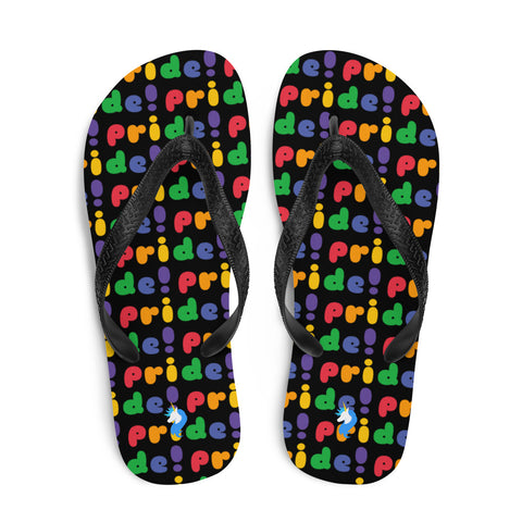 Unicorn Pride Flip Flops by Sovereign