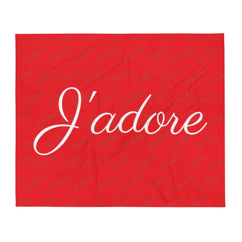 J'adore Throw Blanket by #unicorntrends