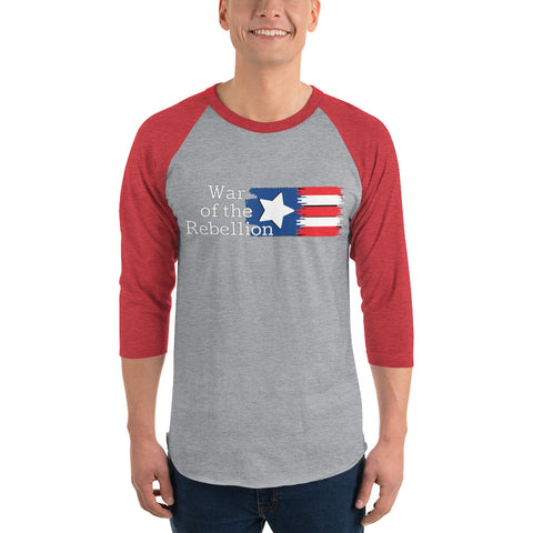 War of the Rebellion 3/4 sleeve raglan shirt by #unicorntrends
