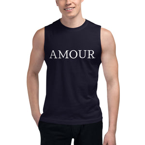 Amour Unisex Muscle Shirt by #unicorntrends