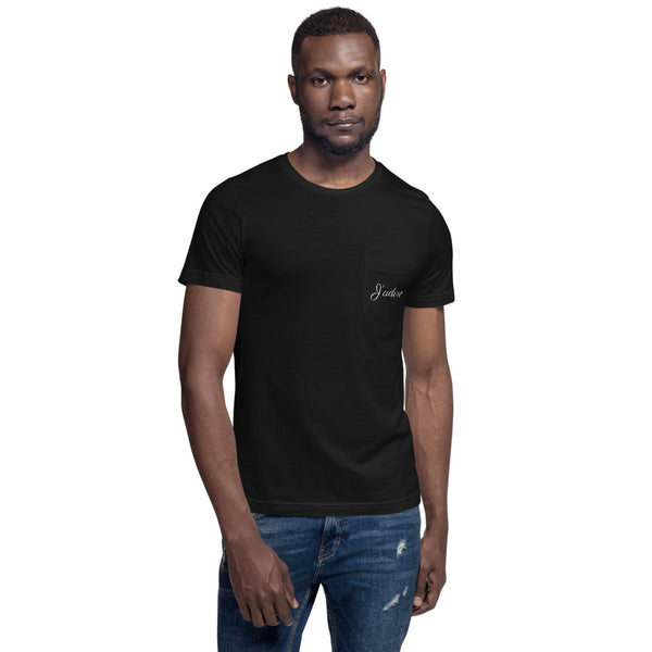 J'adore Unisex Pocket T-Shirt by #unicorntrends