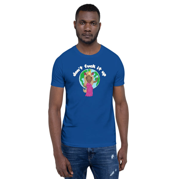 Ru'nicorn Don't F*ck Up the Earth T-Shirt by Sovereign