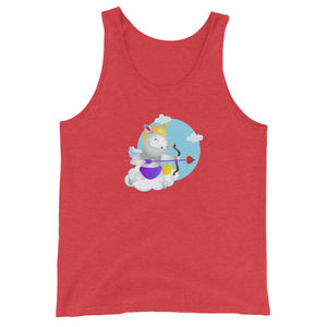 Unicorn Cupid Unisex Tank Top by Sovereign