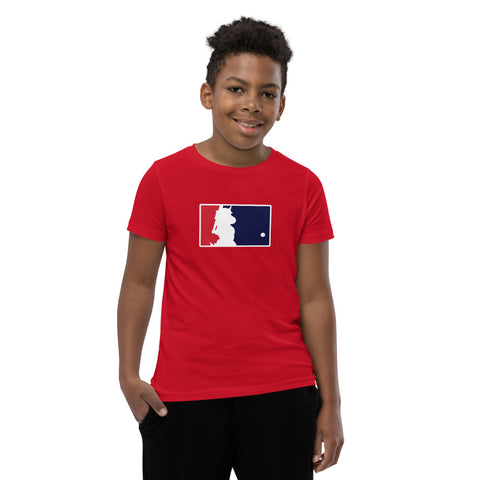 Unicorn Baseball Youth Short Sleeve T-Shirt by Sovereign