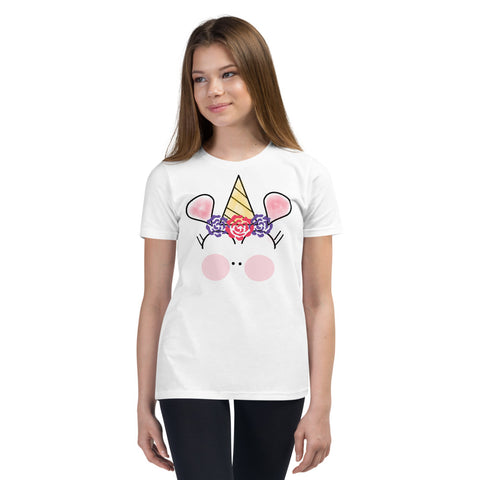Basic Party Time Unicorn Youth T-Shirt by #unicorntrends