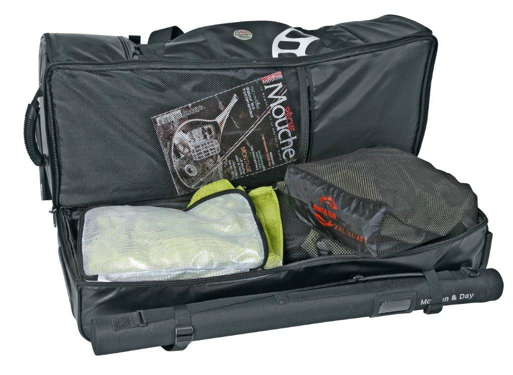 Andrew toft large fly fishing gear bag spey casting for Fly fishing luggage