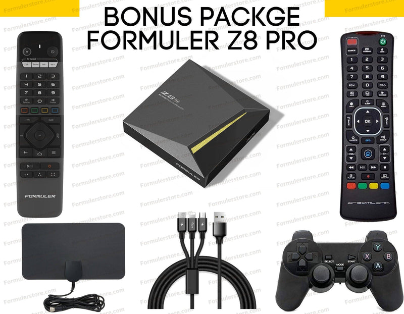 Formuler Z8 PRO 4K Media Streaming Box BONUS PACKAGE Formulerstore.com