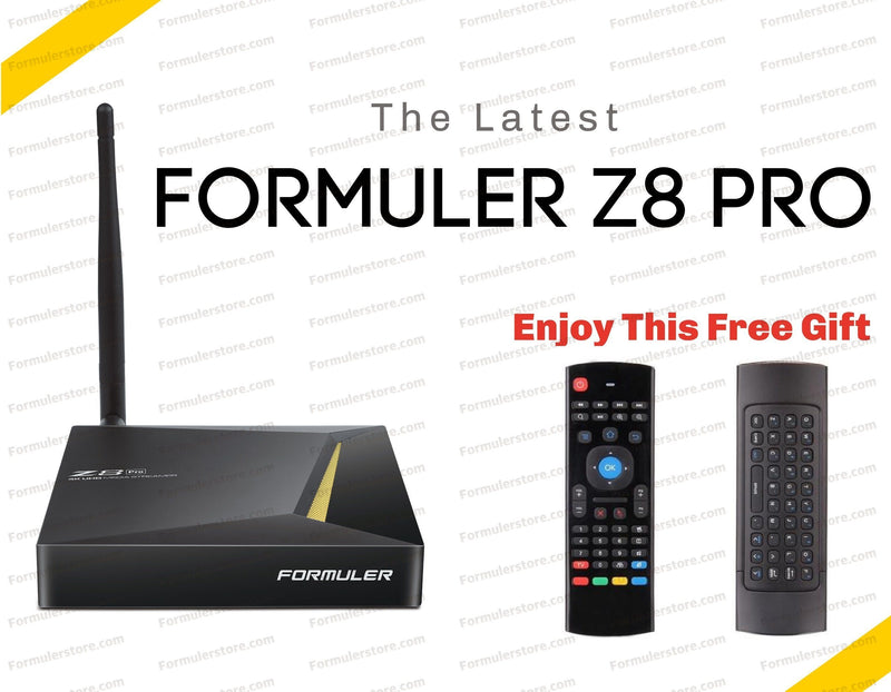 Formuler Z8 PRO 4K Media Streaming Box Formulerstore.com Air mouse Remote & Keyboard