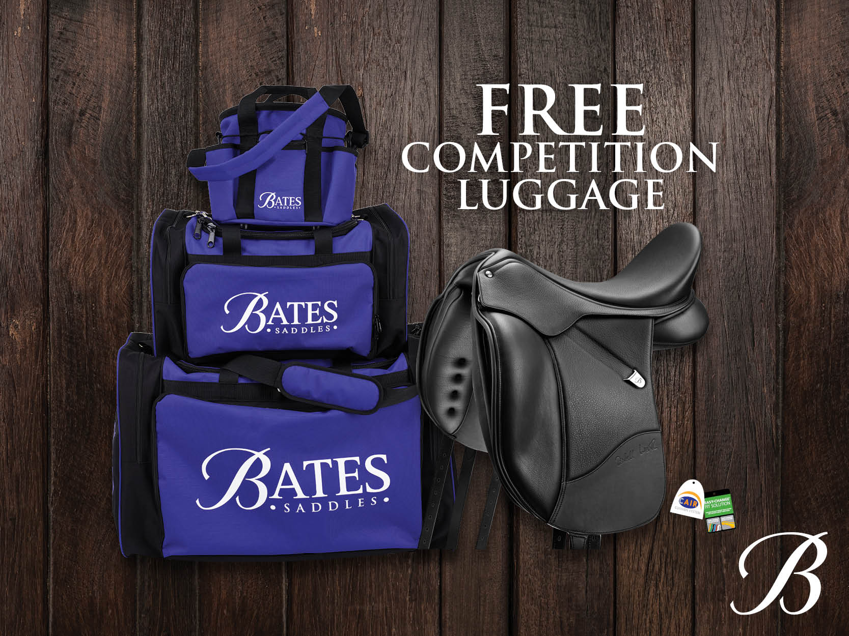 Bates Saddles: FREE Competition Luggage!*