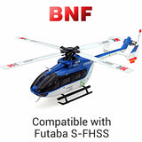 XK K124 6CH Brushless EC145 3D6G System RC Helicopter BNF - Go High Drone