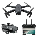 SG107 HD Aerial Folding Drone with Switchable 4K 50X Zoom RC Quadcopter RTF (BLACK 4K WIFI WITH BAG) - Go High Drone