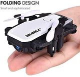 SIMREX X300C Mini Drone RC Quadcopter Foldable Altitude Hold Headless RTF 360 Degree FPV Video WiFi 720P HD Camera 6-Axis Gyro 4CH 2.4Ghz Remote Control Super Easy Fly for Training(White) - G