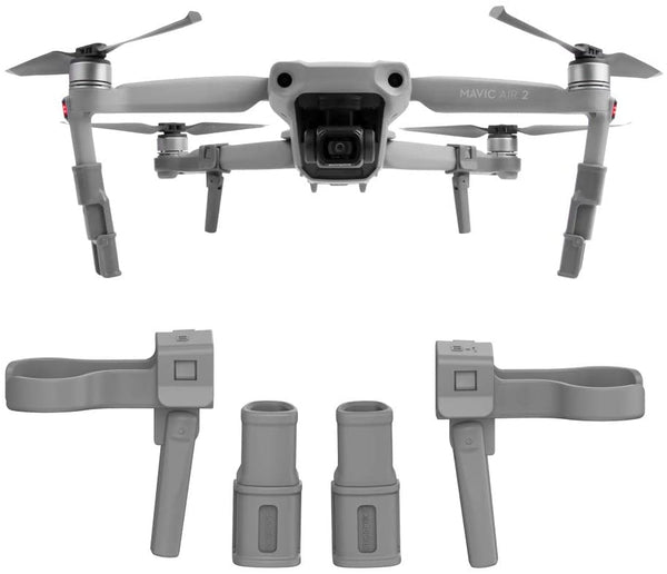 Mavic Air 2 Foldable Landing Gear Extensions Support Leg Protection Adjustable Height for DJI Mavic Air 2 Accessories - Go High Drone