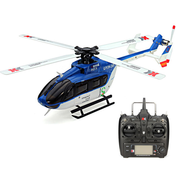 XK K124 6CH Brushless EC145 3D6G System RC Helicopter RTF - Go High Drone