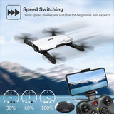 Drones with 1080P HD Camera for Adults,JJRC H71 RC Foldable Drone with 2 Batteries,Optical Flow Positioning Quadcopter with Carrying Case for Beginners-Headless Mode,Altitude Hold(White) - Go