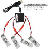 3.7v 500mah Lipo Battery with X4 Battery Charger for UDI U818A U817A U817 U818A-1 RC Drone Quadcopter 4PCS with X4 Battery Charger (Not Compatible for UDI U818A WiFi FPV) - Go High Drone