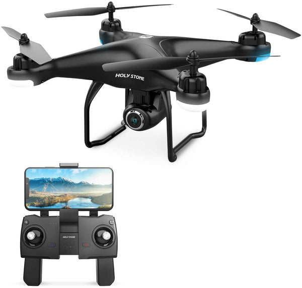Holy Stone HS120D FPV Drone with Camera for Adults 1080p HD Live Video and GPS Return Home, RC Quadcotper Helicopter for Kids Beginners 18 Min Flight Time Long Range with Follow Me Selfie Fun