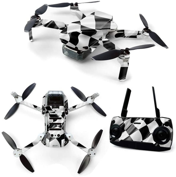 MightySkins Skin for DJI Mavic Mini Portable Drone Quadcopter - Race Flag | Protective, Durable, and Unique Vinyl Decal wrap Cover | Easy to Apply, Remove, and Change Styles | Made in The USA