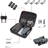 HUIFEIDEYU Universal Drone Carrying Case - Hard Drone Case Accessories Pack for Carrying E58/JY018/JY019/GW58/X6/E010/E010S/E013/E50 Foldable Arm RC FPV Drone Handbag Carrying Case Box Bag Bl