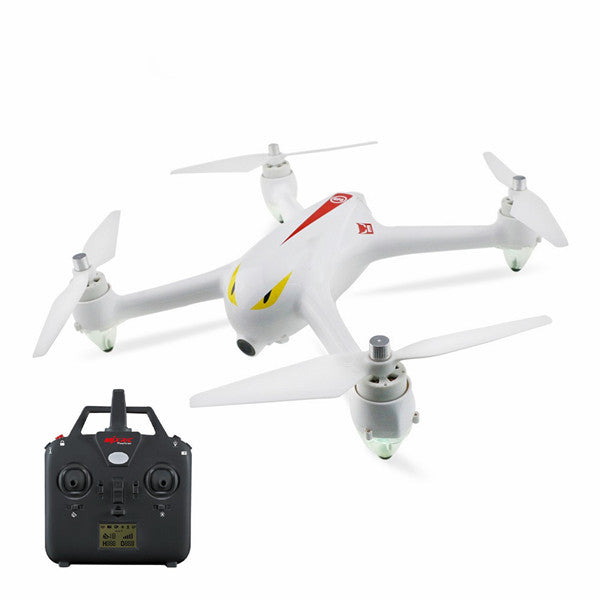 MJX B2C Bugs 2C Brushless With 1080P HD Camera GPS Altitude Hold RC Drone Quadcopter RTF (White Standard Version) - Go High Drone
