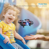 SNAPTAIN H823H Plus Portable Mini Drone for Kids, Pocket RC Quadcopter With 3 Batteries, 21 Mins Flight Time, One Key Take Off Landing - Go High Drone