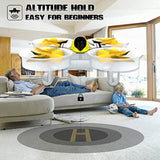 Mini Drone RC Nano Quadcopter for Kids and Beginners, RC Helicopter Plane with Auto Hovering, 3D Flip, Headless Mode and 3 Extra Batteries Toys for Boys and Girls … (Yellow) - Go High Drone