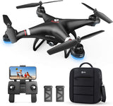 Holy Stone GPS Drone with 1080P HD Camera FPV Live Video for Adults and Kids, Quadcopter HS110G with Carrying Bag, 2 Batteries, Altitude Hold, Follow Me and Auto Return, Easy to Use for Begin