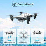 DEERC D20 Mini Drone for Kids with 720P HD FPV Camera Remote Control Toys Gifts for Boys Girls with Altitude Hold, Headless Mode, One Key Start, Tap Fly, Speed Adjustment, 3D Flips 2 Batterie