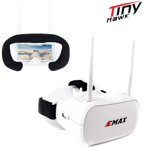 EMAX Transporter FPV Boxed Goggles 5.8G for Racing Drone Diversity Tinyhawk 5 inch Quads Racing Drone Goggles - Go High Drone