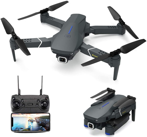 EACHINE E520 Drone with 4K Camera Live Video,WiFi FPV Drone for Adults with 4K HD 120° Wide Angle Camera 1200Mah Long Flight time Auto Hover Foldable RC Drone Quadcopter - Go High Drone