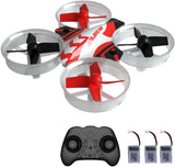 Mini Drone RC Nano Quadcopter for Kids and Beginners, RC Helicopter Plane with Auto Hovering, 3D Flip, Headless Mode and 3 Extra Batteries Toys for Boys and Girls … (Black) - Go High Drone