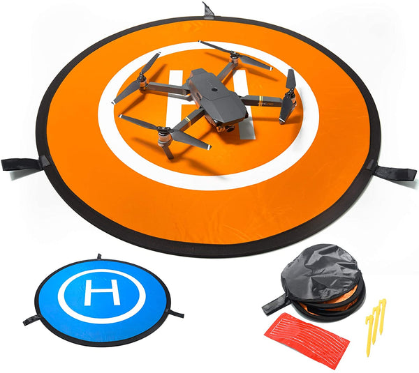 IbD-Tech Drone Landing Pad, 30'' (75cm), Waterproof, Universal, Fast-Folding, Double Sided, Compatible with DJI Spark, Mavic Pro/Air/Mini/2 pro/2 Zoom, Phantom 2/3/4 Pro, 3DR Solo and Others.