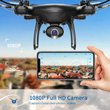 SNAPTAIN SP650 1080P Drone with Camera for Adults 1080P HD Live Video Camera Drone for Beginners w/Voice Control, Gesture Control, Circle Fly, High-Speed Rotation, Altitude Hold, Headless Mod