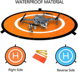 Drone and Quadcopter Landing Pad Accessories 21 Inch, Waterproof Nylon Compatible with DJI Tello Mavic Phantom 3 4 Spark Mavic 2 Pro Zoom Air - Go High Drone