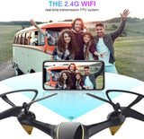 Drones with Camera for Adults Long Flight Time, EACHINE E38 WiFi FPV Quadcopter Drone with 720P 120°FOV HD Camera Live Video Selfie RC Drone for Kids and Beginners Indoor and Outdoor 2 Pcs B