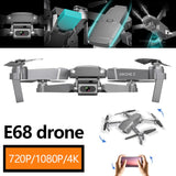 Newest Remote Control Drone E68 Quadcopter UAV with Camera 1080P 4K HD FPV 120° Wide-angle Camera + Optical Flow Positioning + V-Sign + Gesture Video + Real-time Transmission + Long-term Fli