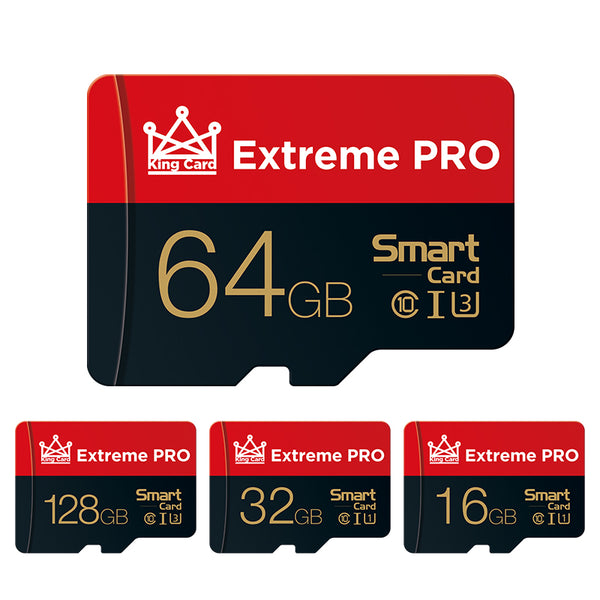Extreme Pro High Speed 16GB 32GGB 64GB 128GB Class 10 TF Memory Card Flash Drive With Card Adapter For Smartphone Tablet Switch Speaker Drone Car DVR GPS Camera - Go High Drone