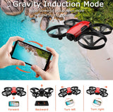 SANROCK U61W Drones for Kids with Camera, RC Quadcopter with 720P HD WiFi FPV Camera, Support Altitude Hold, Route Making, Headless Mode, One-Key Start, Emergency Stop, Great Gift for Boys Gi