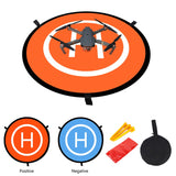 Drones Landing Pad Universal Waterproof Large 55cm/21.6 inches ,Orange Collapsible Protective Waterproof Landing Pads - Go High Drone