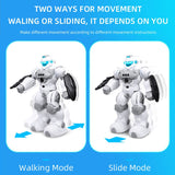 JJRC Robot Dance Intelligent Programmable Mechanic Music RC Robot Gesture Sensor Shooting Robo RC Toys For Children Vector Robot (Remote control robot) - Go High Drone