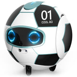 Intelligent RC Robot Toy Children's Remote Control Soccer Robots With Sound Action Figure Ball Robo Kid Toys for Children Boys (White) - Go High Drone