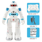 Remote Control Robot Multi-function USB Charging Children's Toy RC Robot Will Sing Dance Action Figure Gesture Sensor Robot (Blue) - Go High Drone