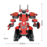 392pcs M1 4CH Remote Control DIY RC Building Blocks Robert Robot Toys Creative Bricks with 360Rotate in Situ for Gift Kids (392pcs M1 Robot) - Go High Drone