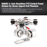 HAKRC 2-axis CNC Metal Brushless BGC2.2 PTZ Control Panel Gimbal Stabilizer for RC Drone Camera Gopro3 DJI Phantom JST / Plug - Go High Drone