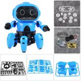 Intelligent Induction Robot DIY Assembled Electric Follow Robot with Gesture Sensor Obstacle Avoidance Kids Educational Toys (Blue) - Go High Drone