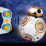 Drop Shipping 17cm RC 2.4G BB-8 Robot Upgrade Remote Control BB8 Robot Intelligent With Sound RC Ball Kid Gift Boy Toy (A) - Go High Drone