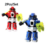 2PCs/set RC battle robot & 2 players PK Mode/Remote Control RC VS Fighting Robot boxing Robot toys for children men Boxing fight (2pcs) - Go High Drone