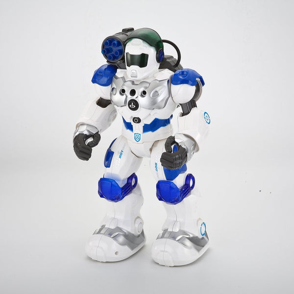 RC Robot Intelligent War Police Combat Defender Dancing Walking Light Musical Remote Control Smart Toy Child Gifts (White) - Go High Drone