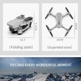 E88 WIFI FPV Drone With Wide Angle HD 720P/1080P/4K Camera Foldable Altitude Hold Durable RC Quadcopter Aircraft Selfie Drone - Go High Drone